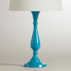One of my favorite discoveries at WorldMarket.com: Turquoise Greta Candlestick Accent Lamp Base