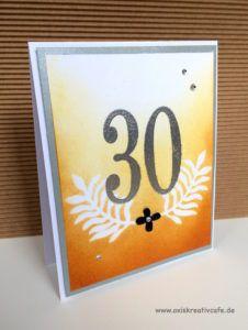 zum 30. Geburtstag mit Großen Zahlen Stampin up