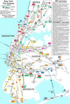 New York City Subway Map - New York City NY • mappery