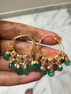 How Clean Gold Jewelry Jewelry Design Earrings, Gold Earrings Designs, Ear Jewelry, Bead Jewellery, Latest Jewellery, Necklace Designs, Jewelery, Indian Earrings, Indian Jewelry