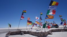 dakar , bolivia, salt lake, uyuni , flags