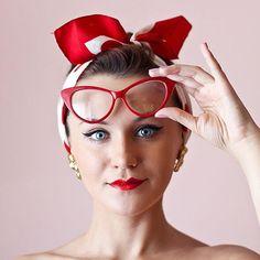b4e369d9cf 1950 s Vintage Mod Fashion Cat Eye Clear Lens Glasses - zeroUV Mod Fashion