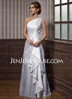 Evening Dresses - $104.99 - A-Line/Princess One-Shoulder Floor-Length Charmeuse Evening Dresses With Ruffle (017021116) http://jenjenhouse.com/A-Line-Princess-One-Shoulder-Floor-Length-Charmeuse-Evening-Dresses-With-Ruffle-017021116-g21116