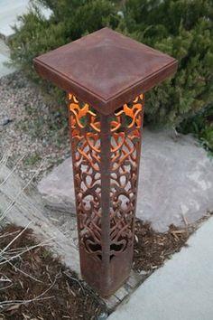 Decorative steel bollard lights contemporary-outdoor-lighting