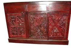 Plasma Tv Standtribal Sideboard Red Patina Antique Hand Carved Chest by Mogul Interior, http://www.amazon.com/gp/product/B0047N6NWK/ref=cm_sw_r_pi_alp_jKoyqb0VXMPRG