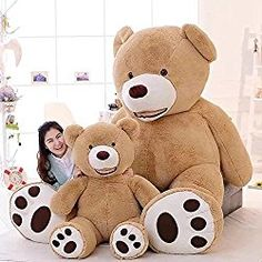 Large Teddy Bear Plush Toy Placate Doll for Baby Stuffed Animal Plus. - Head- Large Teddy Bear Plush Toy Placate Doll for Baby Stuffed Animal Plush Pillow Kids Room Bedding Decor Huge Teddy Bears, Large Teddy Bear, Giant Teddy Bear, Big Bear, Big Teddy, Baby Stuffed Animals, Stuffed Bear, Stuffed Toys, Bear Toy
