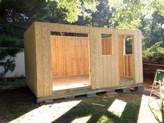 Learn how to build your own shed with this simple tutorial. From building the shed foundation to installing shed siding, this shed-building tutorial shows you everything you need to DIY your own shed. Build A Shed Kit, Build Your Own Shed, Shed Kits, Wood Shed Plans, Diy Shed Plans, Garage Plans, Building A Shed Roof, Building Design, Boat Building