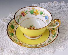 Gorgeous Royal Chelsea Staffs Tea Cup and by TeacupsAndOldLace