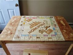 I decided to convert my kitchen table into a fully functional Monopoly Board. - Album on Imgur
