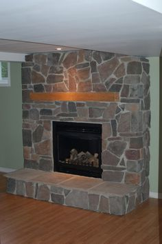 ... Golden Honey Wood Featuring Stylish Handle Corner Stone Fireplace:  Amazing Makeover Stone Fireplace Design Ideas For Delightful Living Room  Blueprint