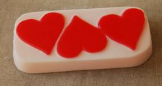 100% Pure Glycerin decorative hand-made soap. Our Three Big Hearts Valentines hand soap is part of our Valentines collection of soaps. See a full