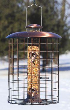 Brushed Copper Caged Seed Bird Feeder | Woodlink Bird Feeders | Hanging Bird Feeders | Tube Bird Feeders | Bird Feeder | Wild Bird Feeder | Buy Bird Feeders
