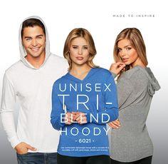 Unisex tri-Blend Hoody