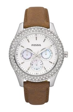Fossil Stella Crystal Topring Multifunction Watch, 37mm | Nordstrom
