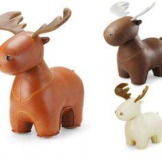 Wonder Zoo   Handmade Cute Animal Leather Stuffed Reindeer Home Decora   Feltify