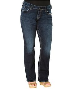 Silver Jeans Plus Size Jeans, Suki Surplus Bootcut, Dark Wash - Plus Size Jeans - Plus Sizes - Macy's