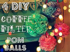 coffee filter pom pom balls