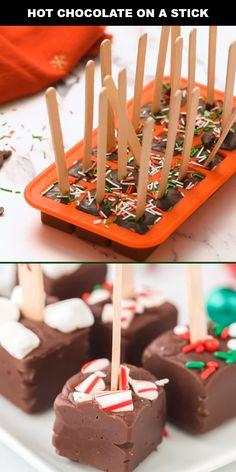 Hot Chocolate Gifts, Christmas Hot Chocolate, Chocolate Spoons, Chocolate Bomb, Hot Chocolate Bars, Hot Chocolate Recipes, Homemade Chocolate Bars, Homemade Chocolates, Chocolate Videos