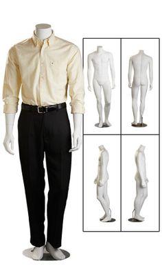 Fiberglass Male Mannequins - Headless