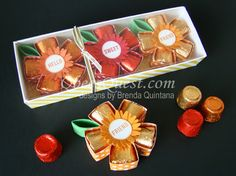 Qbee's Quest: Rolos Flower Tutorial (with gift box)