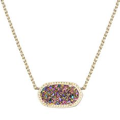Kendra Scott Multicolor Elisa Pendant *Price is negotiable  *Fast Response Time:: *I have a Multicolor Elisa pendant that I'm thinking of selling... For the right price:) leave an offer!! This is not necessarily the price I am looking for!  Comes with box and pouch!! Kendra Scott Jewelry Necklaces