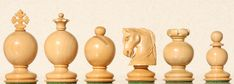 Chess sets from The Chess Piece chess set store: The Padauk Vitis, Collector Chess Sets