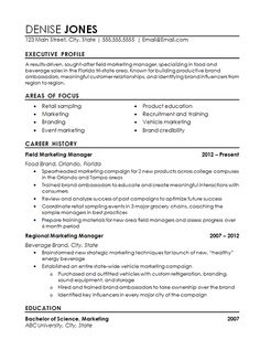 Field Marketing Manager Sample Resume General Manager Resume Example For A High Level Professional With .