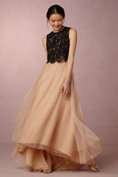 bridesmaid tulle skirts to mix and match a unique look. These top and skirt  separates by Jenny Yoo are the hottest trend in 2017 weddings c09728d48eae
