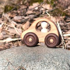 Wooden baby toy, wooden car from the wood. Made of natural wood for kids. Wooden Baby Toys, Wooden Car, Motor Skills, Natural Wood, Handmade Wooden, Organic, Kids, Young Children, Hardwood