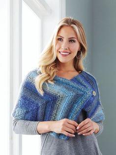a3bd143e5 Mary Maxim - Mitered Wrap - Fashion Accessories - Knit   Crochet Mitered  Square