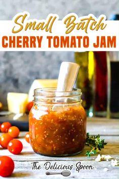 Cherry Tomato Jam Recipe, Canning Cherry Tomatoes, Cherry Tomato Salsa, Canned Cherries, Cherry Recipes, Salsa Recipe Using Cherry Tomatoes, Freezing Cherry Tomatoes, Canned Tomato Recipes, Relish Recipes