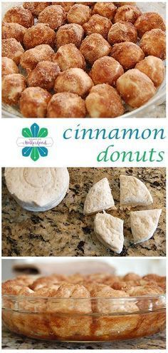 Cinnamon Donut Holes Need a last minute, fun breakfast treat? Try this super easy recipe for cinnamon donut holes. Baked, not fried.Need a last minute, fun breakfast treat? Try this super easy recipe for cinnamon donut holes. Baked, not fried. Cinnamon Donuts, Cinnamon Recipes, Cinnamon Biscuits, Flakey Biscuits, Fried Biscuits, Homemade Biscuits, Homemade Breads, Delicious Desserts, Dessert Recipes