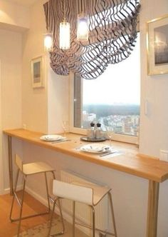 The idea for a small kitchen — the kitchen table instead of the sill