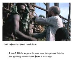 An Idiot Abroad: The Bucket List Desert Island w Karl Pilkington I dont think anyone knows how dangerous it is. Im getting advice here from a cabbage. I love this show! I think this is one of the best episodes so far. Karl Pilkington Quotes, Modern Philosophers, Island Quotes, Burst Out Laughing, Island Pictures, Rick Y, Hilarious, It's Funny, Desert Island