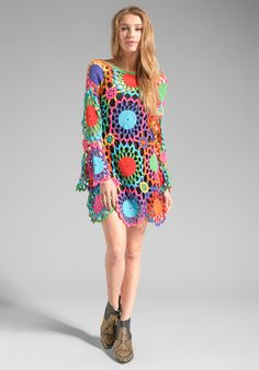 CROCHET FASHION TRENDS - exclusive crochet dress - color splash - made to order on Etsy, $420.00