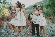 little kids: This is how I want my future family to be. Siblings loving their siblings
