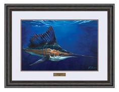 Reflective Art Framed Artwork - Stealth Mode Sail by Kasey Scott