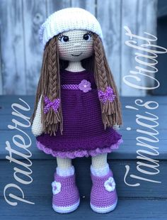 Amigurumi by Dicle Yaman - Falling in loveI Apuru Doll designer: Crochet pattern writer: Doll maker: lydiawlc ~ me me me Note: No crochet pattern for sellNo photo description 665 likes 70 comments – d i c l e y a m a nU At the end of Crochet Dolls Free Patterns, Crochet Doll Pattern, Crochet Toys, Love Crochet, Easy Crochet, Crochet Doll Dress, Amigurumi Doll, Purple Dress, Crochet Projects