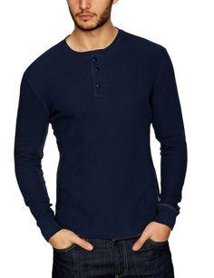 Levi's Shortsleeve Slim Waffle Henley 65753-0004 Men's T-Shirt: Amazon.co.uk: Clothing