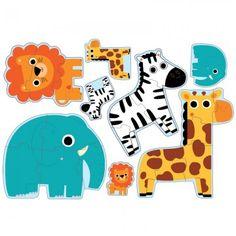 Djeco In The Jungle 4 Puzzles