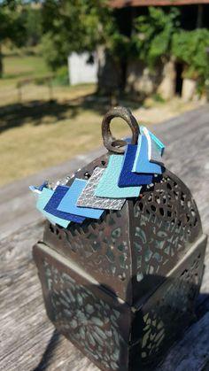 Bracelet Camaya en cuir bleu lagon, bleu azur, bleu marine et argenté
