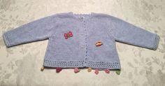 Baby Mini Catimini Girls Size 18 Month Cardigan Sweater Blue Pom Poms | eBay