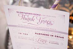 thank you menu (via Ways to Thank Parents at Your Wedding)