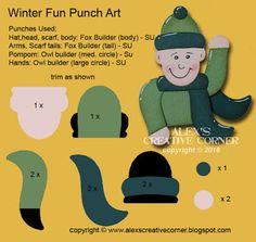 Alex's Creative Corner: Christmas in July Tags - Winter Fun