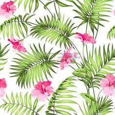 selva: Flores y selva tropical. Vectores