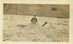 Girl Buried in the Sand on Capistrano Beach Snapshot Capistrano Beach, Antique Stores, Bury, Old Photos, Making Out, Antique Shops, Old Pictures, Vintage Photos