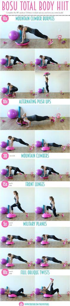 Bosu Total Body HIIT Workout