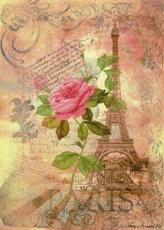 free images for decoupage Vintage Paris, Floral Vintage, Vintage Diy, Vintage Flowers, Decoupage Vintage, Decoupage Paper, Vintage Ephemera, Vintage Postcards, Vintage Pictures