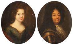 Madame de Montespan and Louis XIV, circa 1690, French school