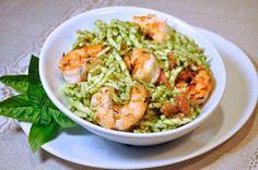 Ciao Chow Linda: Grilled Shrimp with Pesto Pasta